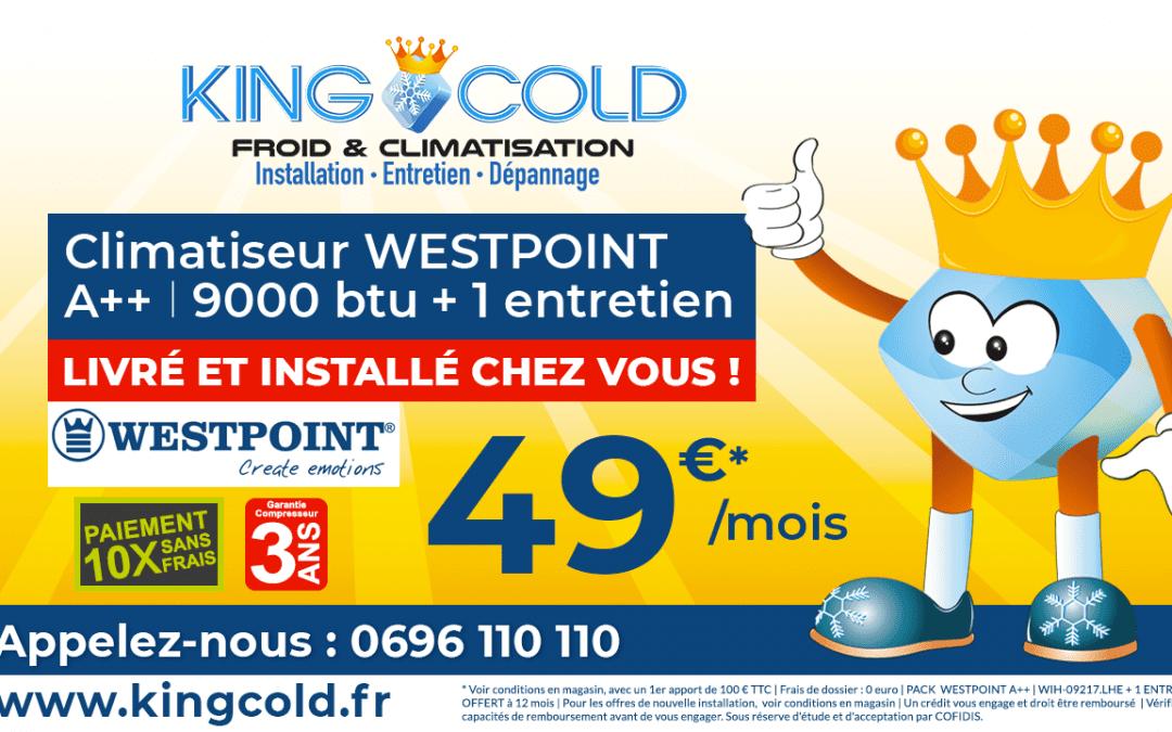 Climatiseur WestPoint à partir de 49 € /mois