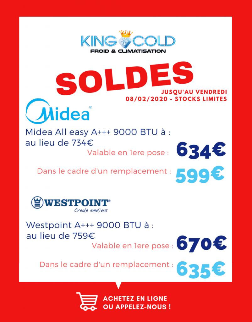 soldes janvier 2020 chez King Cold en Martinique