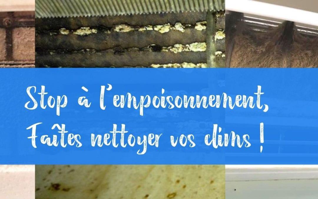 Stop à l'empoisonnement avec le nettoyage de votre climatiseur !